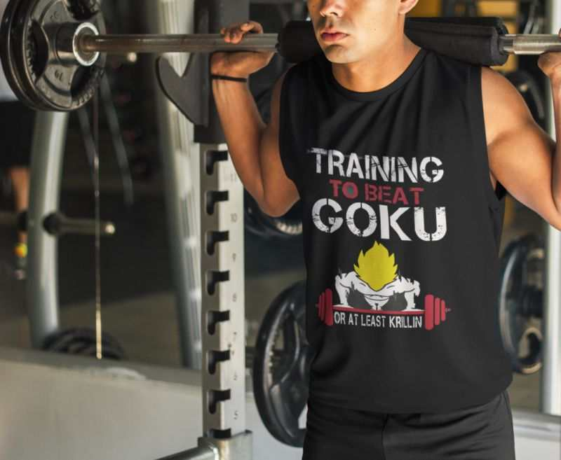 goku training tank top mockup