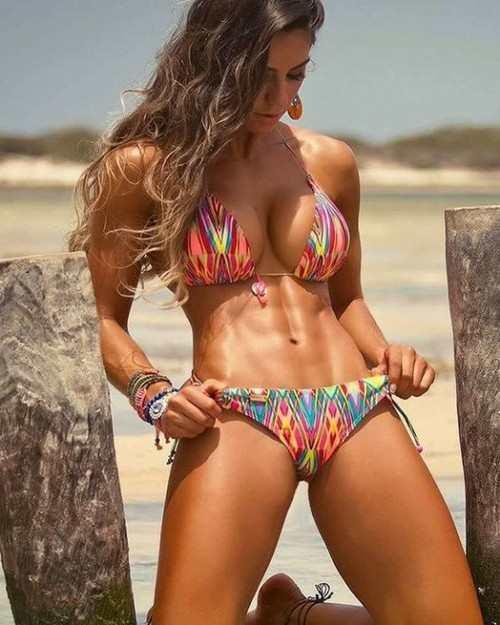 Sexy bikini fitness gym body girl