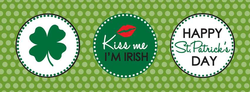 Kiss Me I'm Irish Saint Patricks Day Facebook Covers