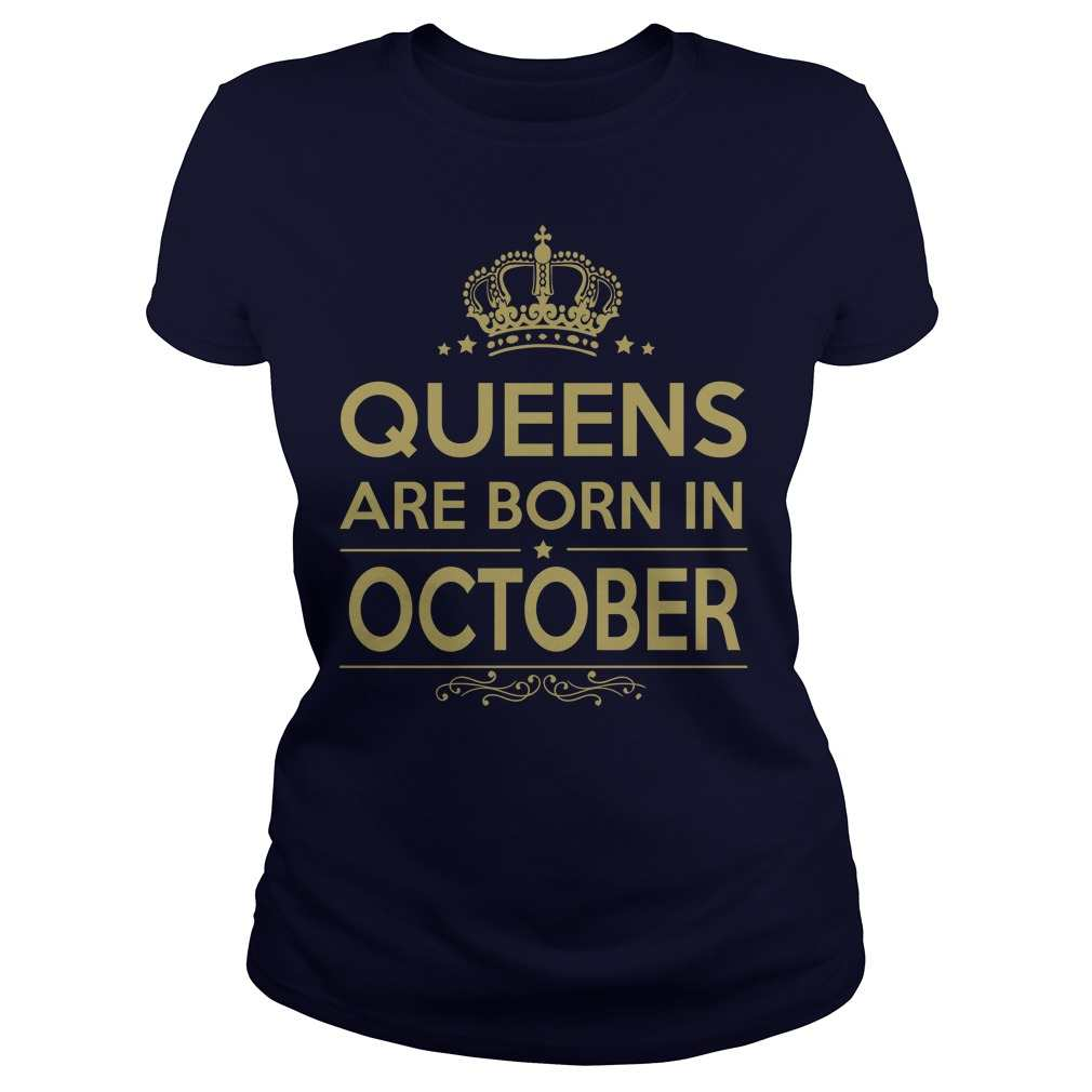 Queens Are Born in October Shirt Collection