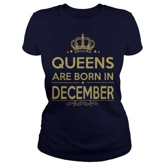 Queens Are Born in December – Birth Year Shirt