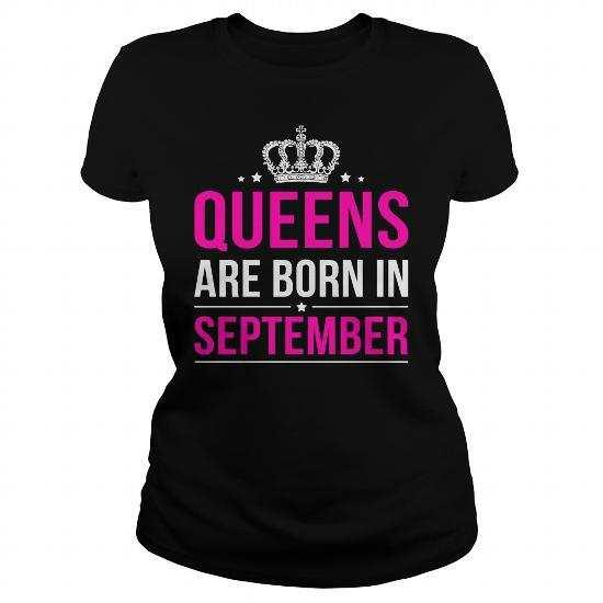 Queens Are Born in September T-Shirt, Hoodie, Legging, V-Neck