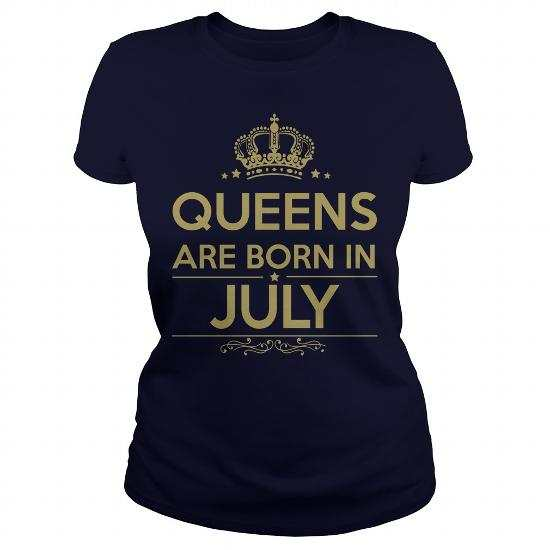 Queens Are Born in July T-Shirt, Tank, Hoodie, Legging
