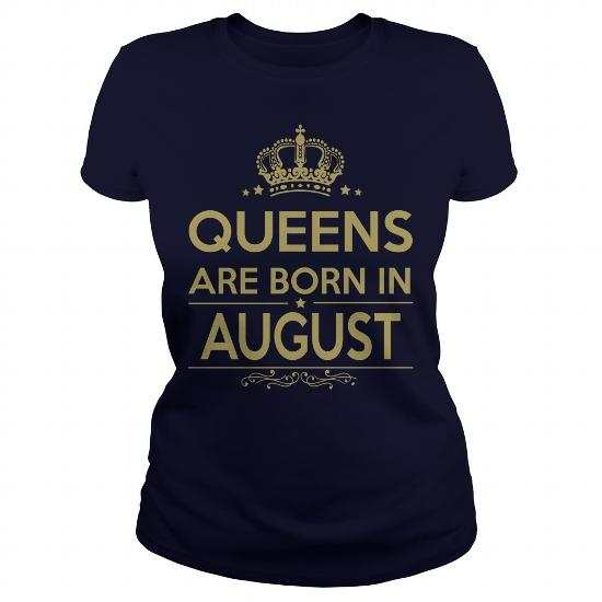 Queens Are Born in August Shirt, Hoodie, Legging, V-Neck
