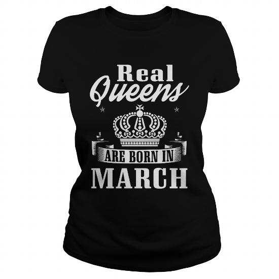 Real Queens are born in March Shirt