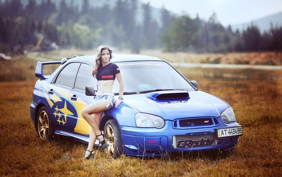 subaru and sexy girl photo