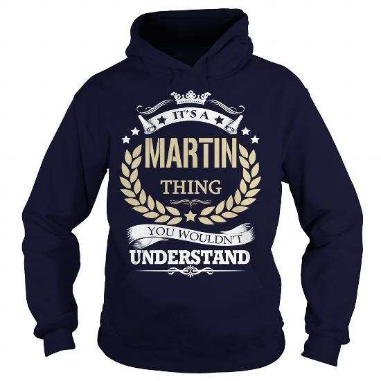 Its a MARTIN Thing Navy Blue front shirt