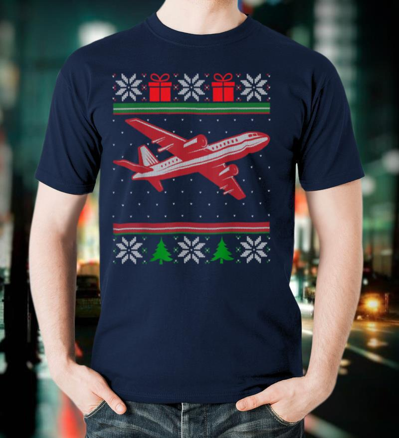 Aviation Pilot Ugly Christmas Aircraft Airplane Aviator T Shirt