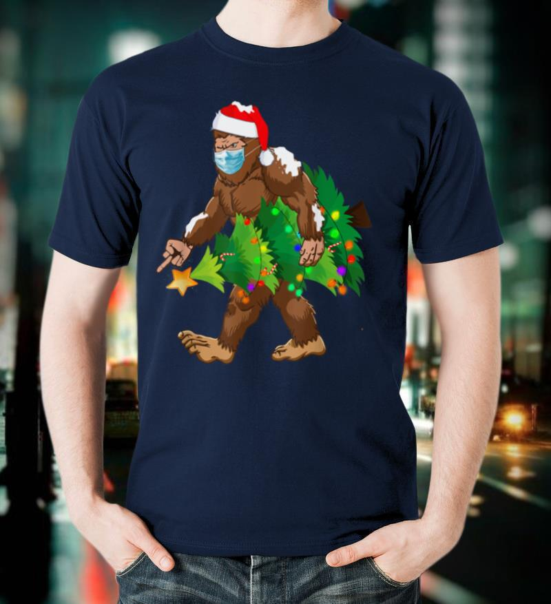 Bigfoot Middle Finger For Squatch Believers Christmas 2020 T Shirt