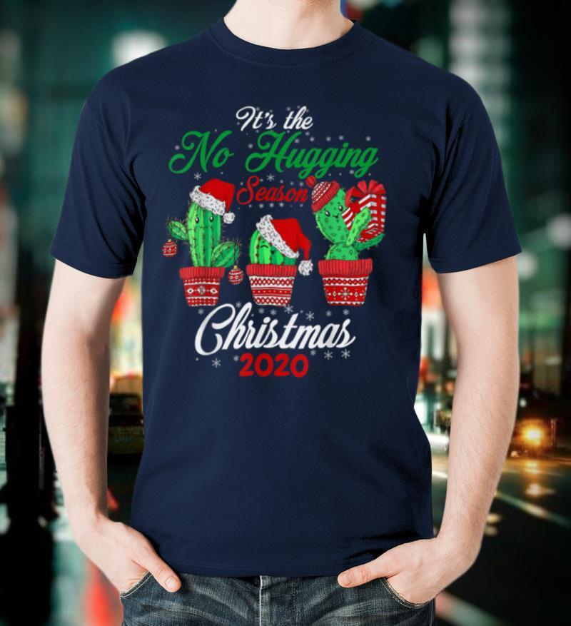 Christmas 2020 Shirt Cactus No Hugging Social Distancing T Shirt