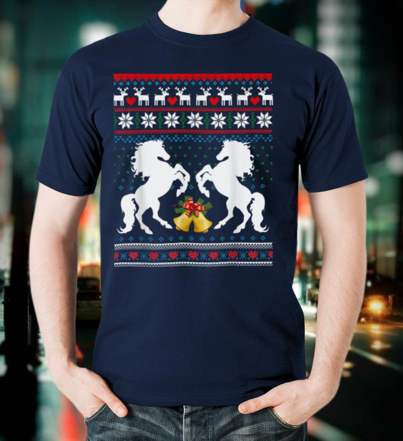 Christmas Cute Horse Ugly Sweater T Shirt