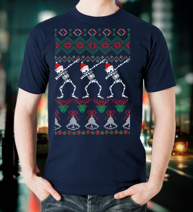 Christmas   Skeleton Ugly Sweater T Shirt