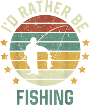 Fly Fishing Retro Fishing Id Rather Be Fishing T Shirt