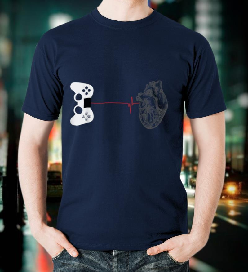Gamer Heartbeat T Shirt Video Game Lover Gift Shirt T Shirt T Shirt