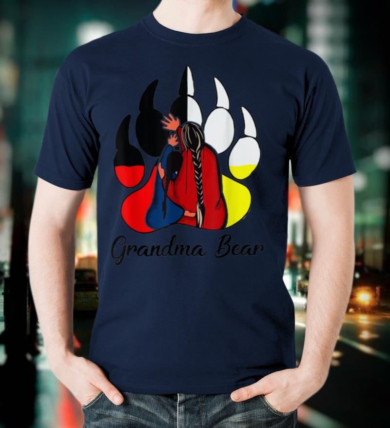 Grandma Bear Native American T Shirt