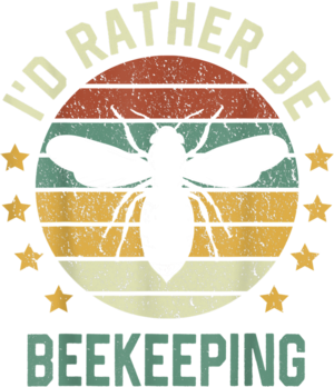 Honey Bee Beekeeper Id Rather Be Beekeeping T Shirt