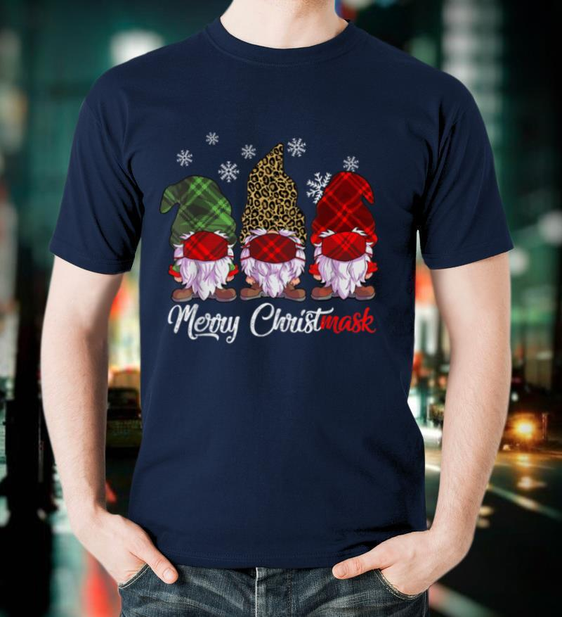 Merry Christ Mask, Christmas Gnome Tee, Funny, Cute, Gnomies T Shirt