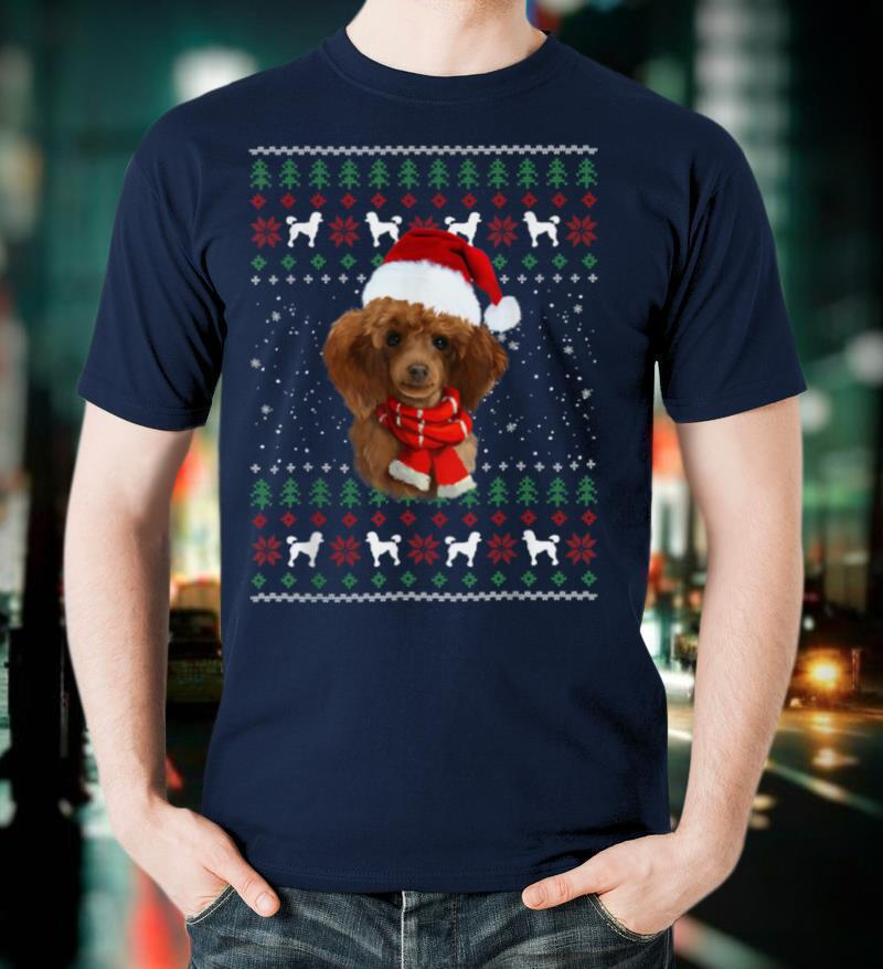 Poodle Christmas Ugly Sweater Funny Dog Lover Gifts T Shirt