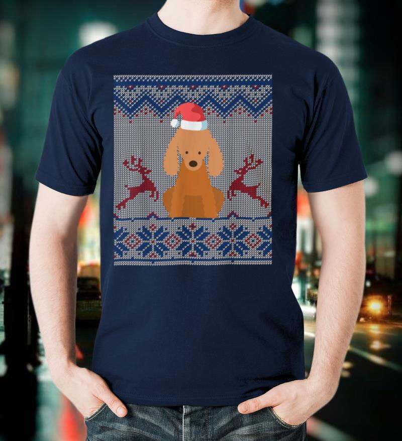 Poodle Dog Santa Hat Ugly Christmas Sweater Gift T Shirt