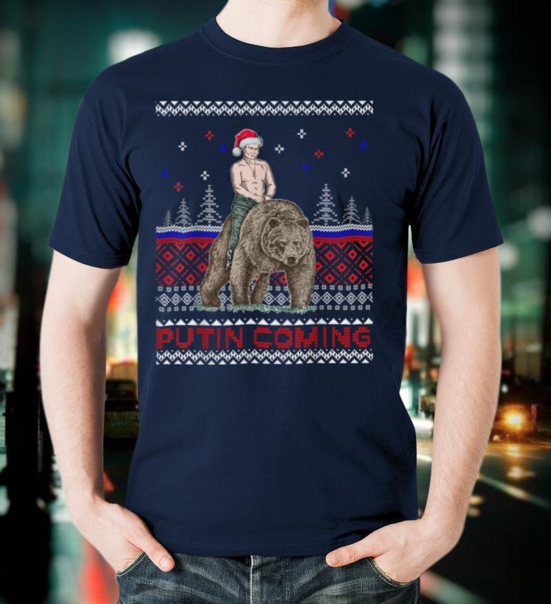 Putin Bear Ugly Christmas Sweater Christmas Blyat T Shirt