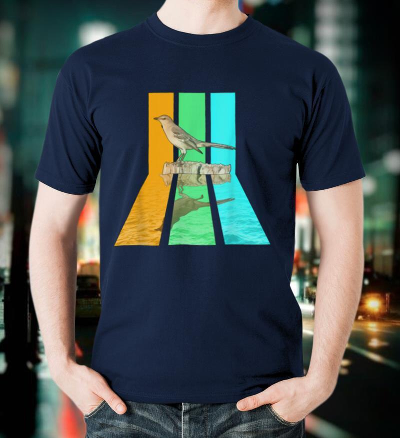 Retro 80s Vintage Style Mockingbird T Shirt