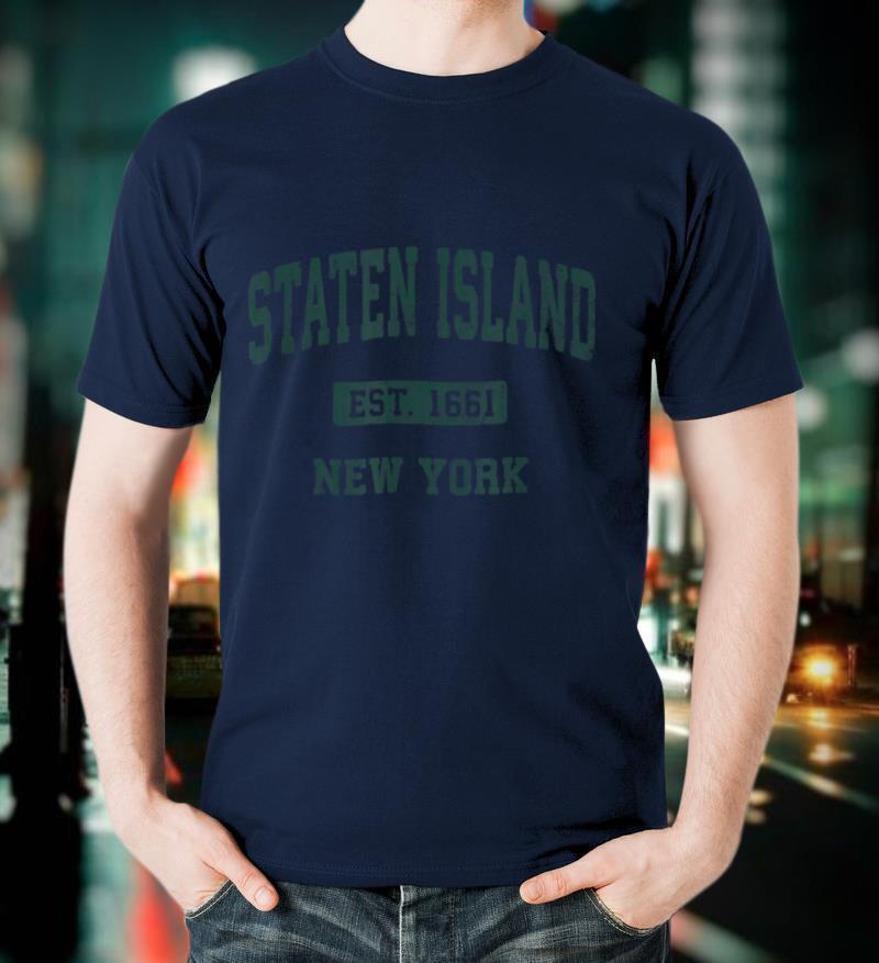 Staten Island New York NY Vintage Athletic Sports Design T Shirt