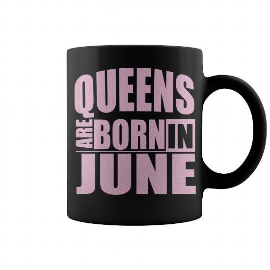 Queens Are Born In June Mug