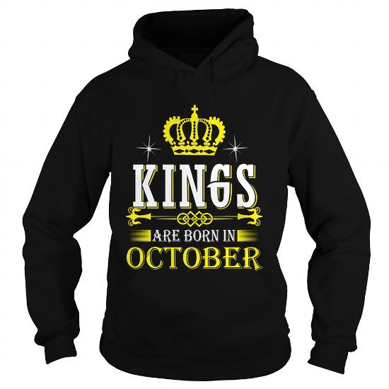 King born in October gold style hoodie