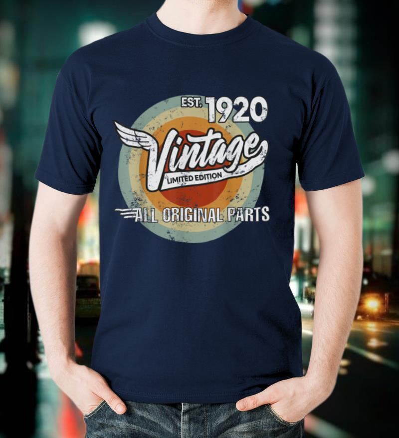1920 Vintage Born Made in 1920 Birthday Gifts for Men T Shirt