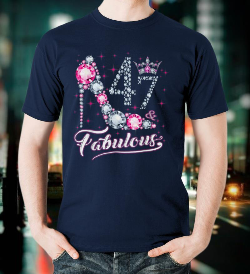 47 And & Fabulous 1974 47Th Birthday Gift Tee For Womens T Shirt