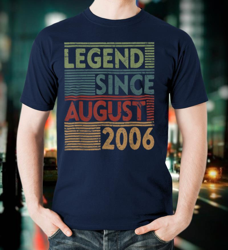 Born In August 2006 Tee Legend 14th Birthday Gifts T Shirt