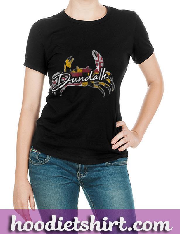 Dundalk Maryland Flag Crab Shirt State Souvenir Gift