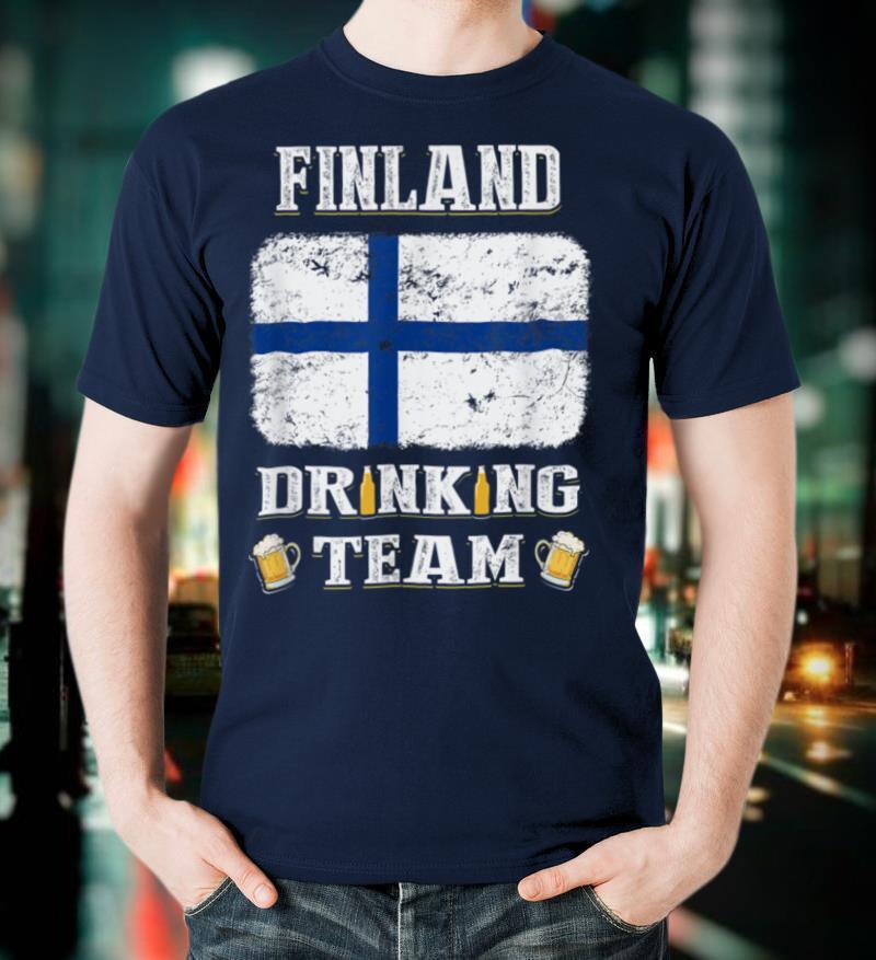 Finland Drinking Team Funny Beer T Shirt