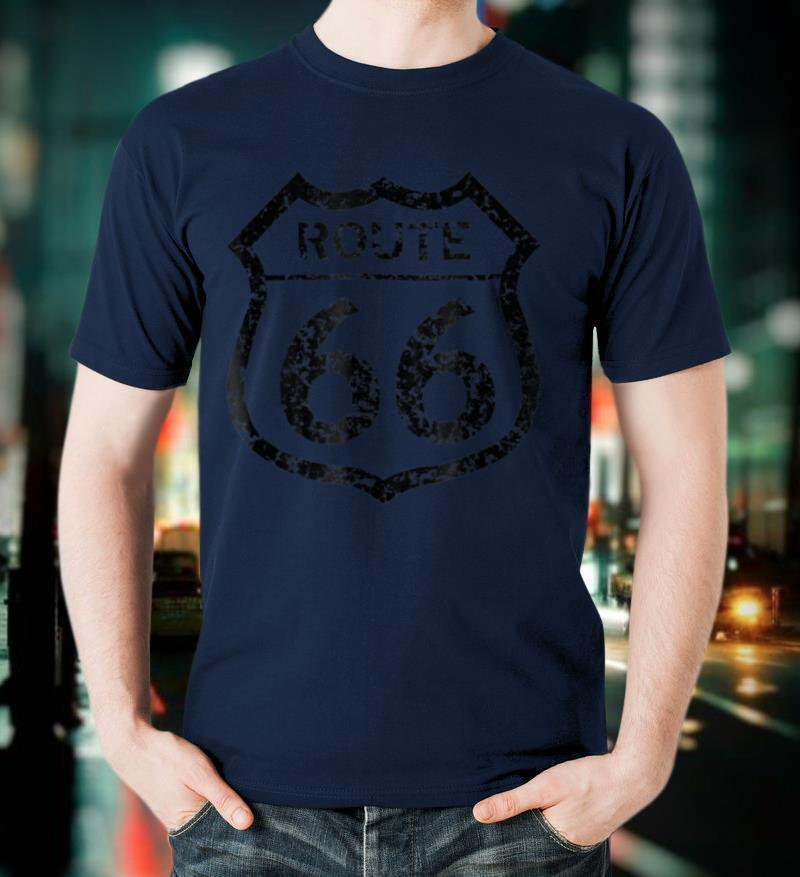 Historical Route 66 Faded Grunge T Shirt