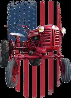 Patriotic Vintage Cub Farm Tractor American Flag USA Pride T Shirt