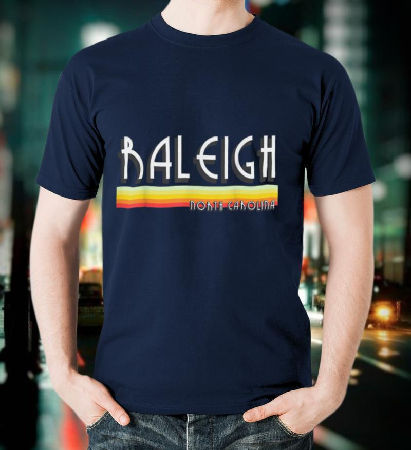 Raleigh North Carolina T Shirt Vintage NC Lines