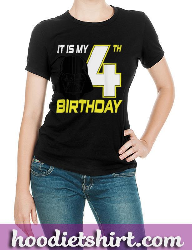 Star Wars Darth Vader 4th Birthday T Shirt