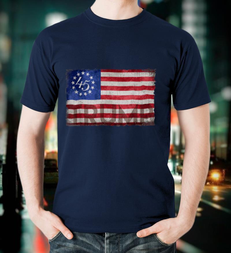 Trump 2020 Betsy Ross 13 Star American USA Flag 1776 T Shirt