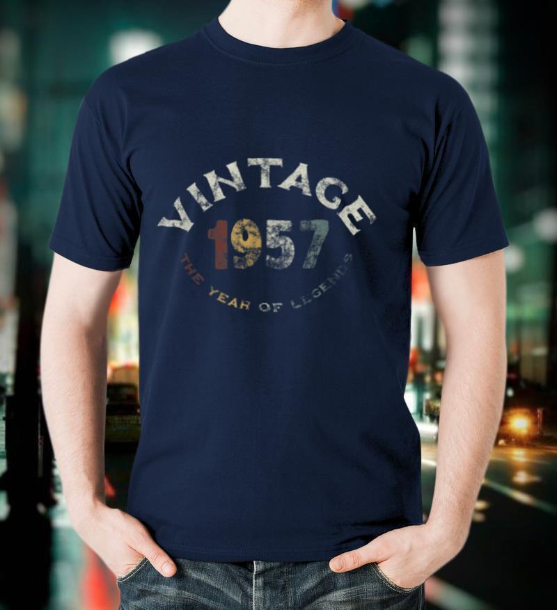 Vintage 1957 64th Funny Retro Birthday Gifts Ideas Men Women T Shirt