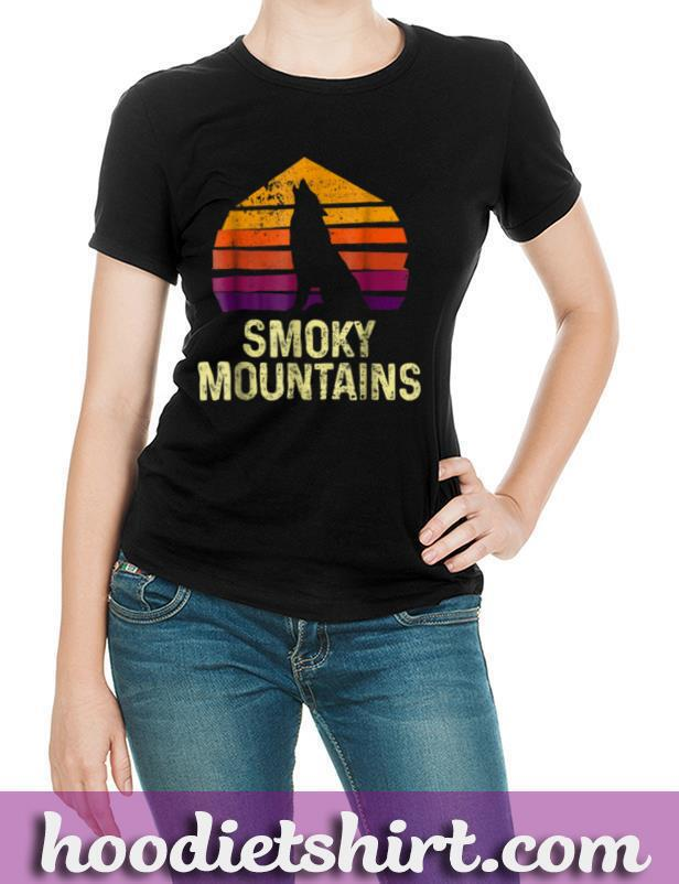 Vintage Great Smoky Mountains Wolves National Park T shirt