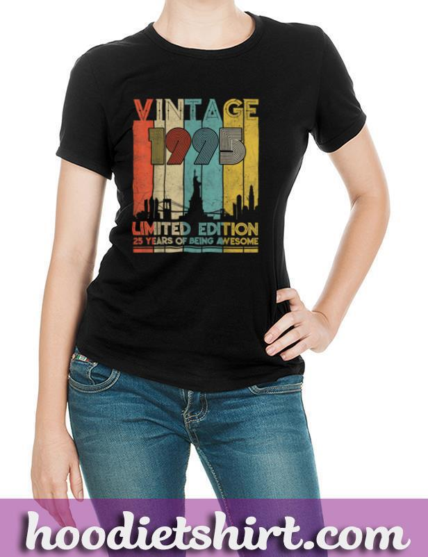 Vintage Made in 1995 Shirt 25th Birthday 25 years old Gift T Shirt