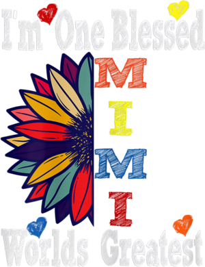 Womens Sunflower Blessed MIMI Birthday Mothers Day Valentines Gift T Shirt
