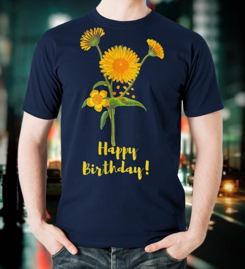 single sunflower birthday T Shirt