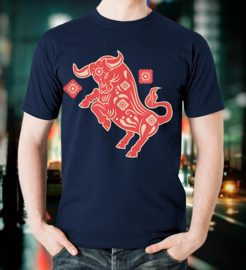 2021 New Year of the Ox Chinese New Year Zodiac T Shirt