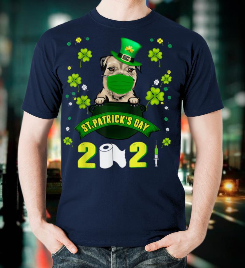 Border Terrier Leprechaun Dog Face Mask St Patricks Day 2021 T Shirt