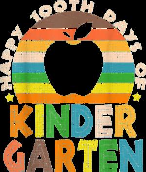 Funny Happy 100th Days of Kindergarten School 2021 Boys Kids T Shirt