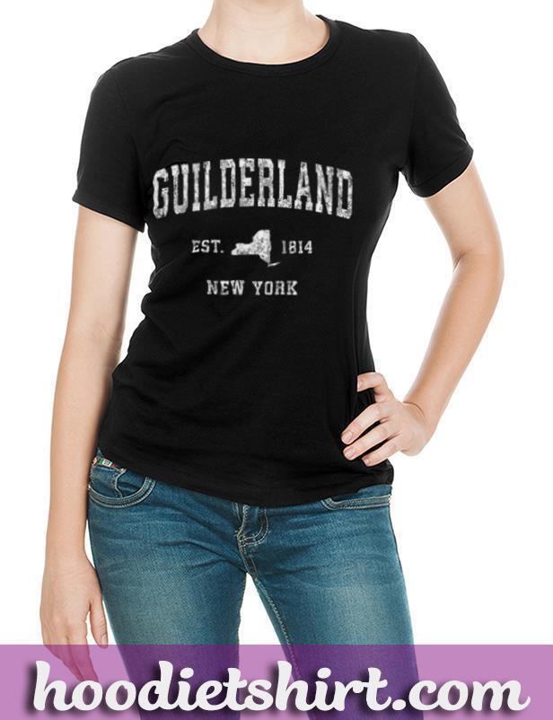 Guilderland New York NY Vintage Athletic Sports Design T Shirt