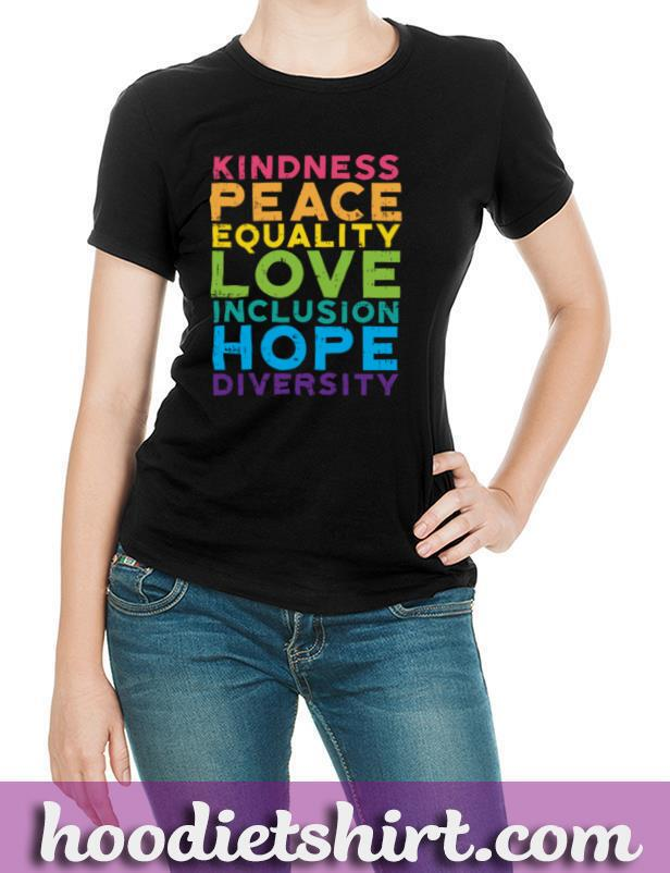 Kindness Peace Equality Rainbow Gay Black Pride LGBT Gift Pullover Hoodie