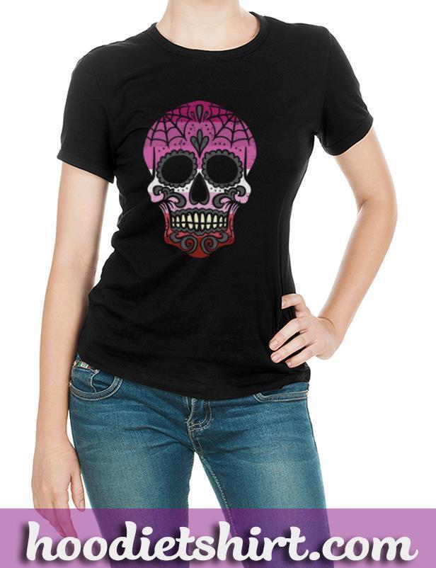 Lesbian Pride Sugar Skull Mexican Butch Gay LGBT Flag Gift Pullover Hoodie