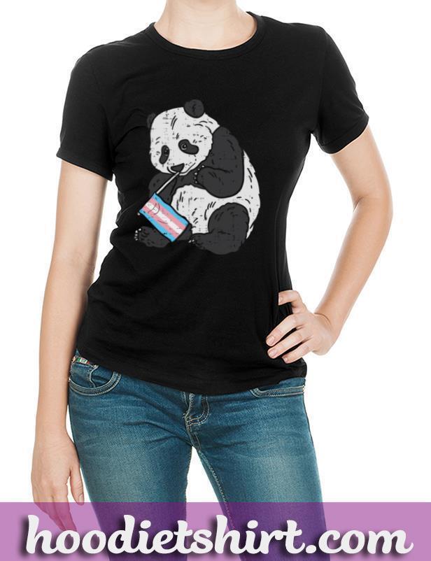 Panda Bear Transgender Flag Trans Pride LGBT Animal Gift Pullover Hoodie